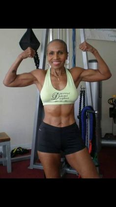 No Excuses!  This beautiful woman is 80 yrs old. I need to be in this great of shape when I'm her age.