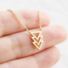 Chevron triangle necklace                                                                                                                                                     More