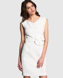 Vestido piqué de mujer Boutique Moschino con lazo