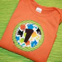 Baby Boys First Birthday Number One Shirt by ThePolkaDotTotSpot, $22.00