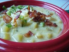 Cheddar Potato Soup With Roasted Poblanos and Bacon - Hispanic Kitchen#.VPUfmbQ5AcA#.VPUfmbQ5AcA#.VPUfmbQ5AcA