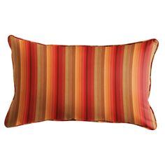 "Sunbrella 16"" Lumbar Pillow In Astoria Sunset Stripe"