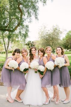 Lavender Bridesmaids | Read More: http://www.stylemepretty.com/little-black-book-blog/2014/06/13/modern-escondido-art-center-wedding/ | Photography: Aga Jones Photography - agajonesphotography.com/