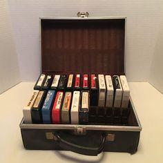 19 Vintage 8 Track Tapes and Case, Janis Joplin, Van Halen, Stevie Wonder & More