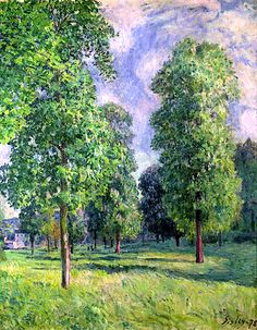 Alfred Sisley. Landscape at Sevres. 1878. oil on canvas, 92 cm x 73 cm. Private Collection.