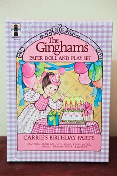 The Ginghams Paper Doll Carrie's Birthday Party by KTsVersion on ETSY