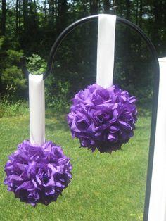 Flowers, Reception, White, Ceremony, Purple, Red, Bouquet, Decor, Bridesmaids, Inspiration, Board, Gold, Bridesmaid, Girl, Aisle, Pomanders, Balls, Kissing