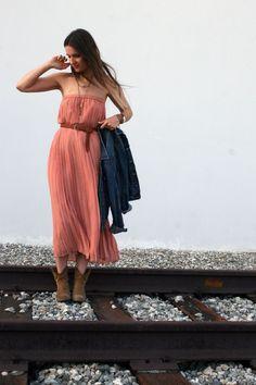 maxi skirt ---> maxi dress.