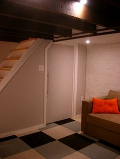 Carpet tiles- great basement idea
