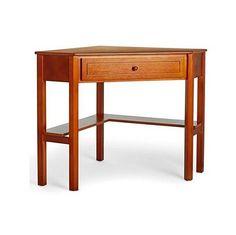 Wood Computer Desk Corner L Shaped Cherry Workstation Writing Table Furniture #DevineBestBuys