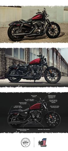 No need to shine this machine. Just get on and tear up the nearest street. | 2017 Harley-Davidson Iron 883 #harleydavidsonstreetbobber