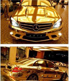 Gold-plated Mercedes, United Arab Emirates.