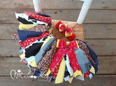Fabric Tutu Cowgirl Jessie Shabby Chic Fabric by ChicSomethings. , via Etsy.