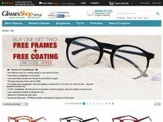 Glasses Shop Coupons and Promo Codes http://couponsheap.com/store/glassesshop/  Glasses Shop sells glasses, frames, prescription glasses, sunglasses and more. For more coupons visit: http://couponsheap.com