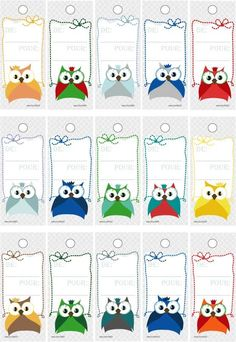 Cartes de cadeaux de noël à imprimer Owl Writing, Writing Paper, Homemade Gift Bags, Octopus Crochet Pattern, Diy And Crafts, Crafts For Kids, Owl Classroom, Paper Crafts Origami, Class Decoration