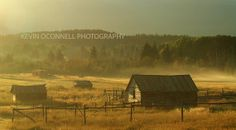Montana Foggy Barn Landscape Montana Big by KOPhotographyDesign, $65.00
