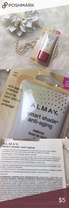 NEW! Almay Smart Shade Anti-Aging Color 100 Light Brand new in original packaging. Retail value: $9 Almay Makeup Foundation
