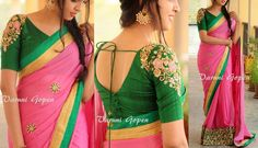Looking for latest blouse back neck designs for silk sarees? Here are trendy models to try with your pattu sarees and look graceful! Blouse Back Neck Designs, Hand Work Blouse Design, Simple Blouse Designs, Stylish Blouse Design, Pattu Saree Blouse Designs, Blouse Designs Silk, Designer Blouse Patterns, Bridal Blouse Designs, Blouse For Silk Saree