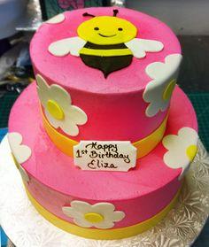 Pink bumblebee cake. Cake # 052.