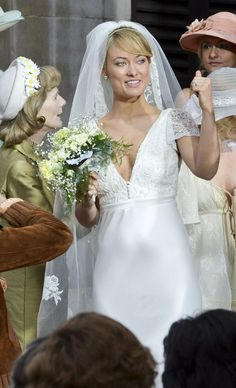 olivia wilde rush wedding dress | Olivia Wilde and Chris Hemsworth film scenes for 'Rush' - Photo 5 ...