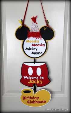 Cute Mickey Mouse Party banner/door sign