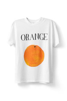 Ganni | murphy orange t-shirt