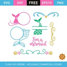 We offer a flash freebie SVG cut files including commercial license. The SVGs are available only for a limited time. Free Monogram, Monogram Frame, Disney Fantasy, Cricut Vinyl, Svg Files For Cricut, Fuentes Silhouette, Free Svg, Unicorns And Mermaids, Cricut Creations