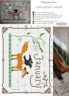 ENERO - Calendario de animalitos de Snowflower Diaries