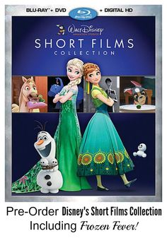 Disney Short Films (Including Frozen Fever) on DVD and Blu-Ray! Sometimes the shorts are just as good as the long movie!