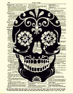 Halloween skull art ..