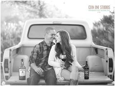One of the cutest engagement sessions we've done. http://www.ceanonephotography.net/blog/happy-weekend/ #ceanonestudios #happyweekend #engagementphotos #vintage #vintagetruck #love #whiskeyandwine #cowboyboots #socalphotographer #weddingphotographer