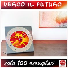 """""""Verso il Futuro"""" Scultura - Cm 18 X 15,5 Orologio Di Alluminio in Rivettato E Tela Dipinta ! Limited Edition - Solo 100 esemplari firmati e numerati!  E' giunta l'ora di visitarci ➜ http://www.artemidatre.com/  #Arte #Scultura #Ornamento #Oggetto #Idea #Lusso #Art #ArtisticSkill #InstaArt #CasaModerna #Arredamento #Design #DesignModerno #Gallery #ArtGallery #Colore #Rosso #LimitedEdition #Orologio #Alluminio #Raro #Rarità"""