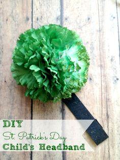 #DIY children's headband for #StPatricksDay | http://thriftydiydiva.com/diy-st-patricks-day-headband/ #crafts
