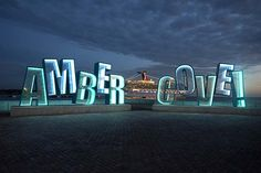 Amber Cove sign at the cruise port in Puerto Plata, Dominican Republic