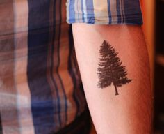 Temporary Tattoo Forrest Tree van FleetingInk op Etsy