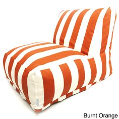 Indoor Outdoor Vertical Stripe Bean Bag Chair Lounger By Majestic Home Goods
