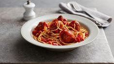 Not sure what to make for dinner? This spaghetti and meatballs recipe is easy and delicious. Find more dinner inspiration at BBC Good Food. Bbc Good Food Recipes, Healthy Dinner Recipes, Healthy Meals, Easy Tomato Sauce, Dinner On A Budget, Budget Dinners, Dinner Ideas, Spaghetti And Meatballs, Meatball Recipes