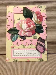 Anna Griffin Happy Birthday Card with by MyPrettyPaperGifts, $6.00