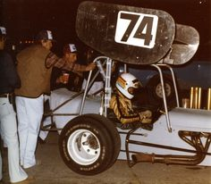 Car 72 - 19th race car - Bill Martin's Supermodified oval track race car.  Drove my first race for Bill on 5-8-82.  Huge difference from road racing sports cars!  Didn't have my first Main Event win with the car until 2 months later.  This photo is from that first race at Bonneville Raceway in Salt Lake City.