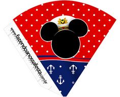 Mickey Marinero: Imprimibles Gratis para Fiestas. Free Printable Bookmarks, Free Printable Banner, Girl Birthday Themes, Kids Party Themes, Personalised Gifts Unique, Cone, Diy Gift Box, Blogger Templates, Party Printables