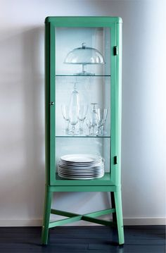 IKEA Fabrikor cabinet; kitchen nook storage.