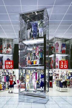 ♂ Commercial design clothes store interior visual merchandising UNIQLO Megastore