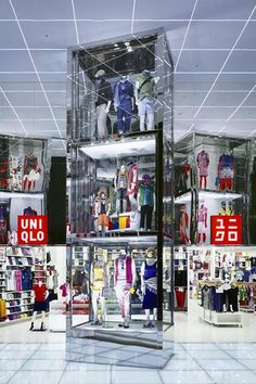 ♂ Commercial design clothes store interior visual merchandising UNIQLO Megastore
