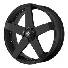 The KMC Rockstar Car Matte Black wheel is a wheel with a / bolt pattern and offset. Matte Black Cars, Black Rims, Truck Wheels, Wheels And Tires, Custom Wheels, Custom Cars, Rims For Cars, Car Rims, Mustang Cobra