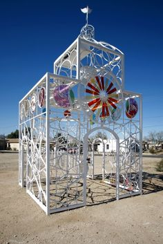 Tucson Oddity: Bike Church is a walk-in sculpture. The full background is here. http://azstarnet.com/news/local/tucson-oddity-bike-church-is-a-walk-in-sculpture/article_fa10d3da-351b-5cbc-a0e6-2bcb35825897.html