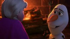 Olaf is suche a good helper