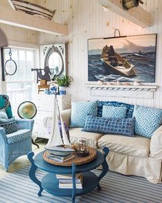 Nautical Casual Living Room