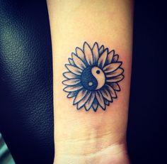 yin yang flower tattoo - Google Search
