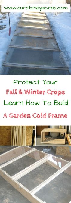 Fall Cold Frame - Building a garden cold frame is a great additional to your garden. Cold frames allow you to extend your garden season all the way through the fall and into the winter months!