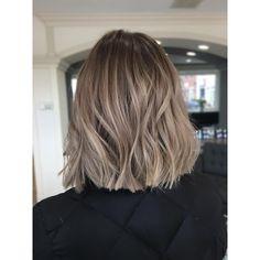 Ash Brown Hair Balayage, Balayage Hair, Lob Hairstyle, Messy Hairstyles, Brunette Hair, Blonde Hair, Cabello Hair, Cute Hair Colors, Beachy Hair